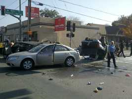 One person was critically injured Monday morning in a multiple-car crash along Harding Way in Stockton.