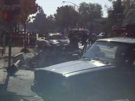 The crash also backed up traffic along Harding Way and West Lane.