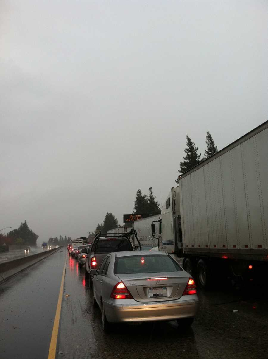 WednesdayTraffic is backed up after the morning-hour commute entering downtown Sacramento.
