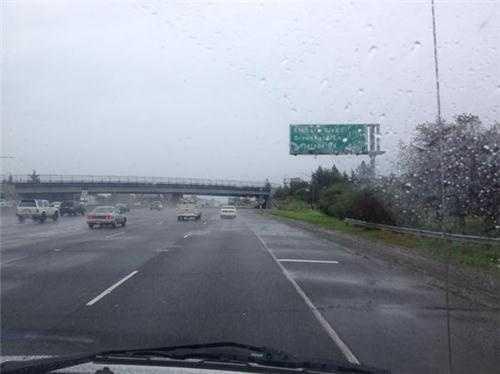 WednesdayMisty, light rain falls near Rancho Cordova.