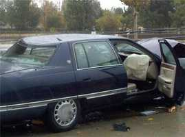 WednesdayThis is the car that caused some problems in Rancho Cordova this morning.