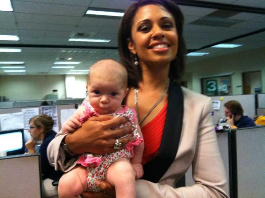 Hazel with former KCRA 3 anchor Adrienne Bankhert.