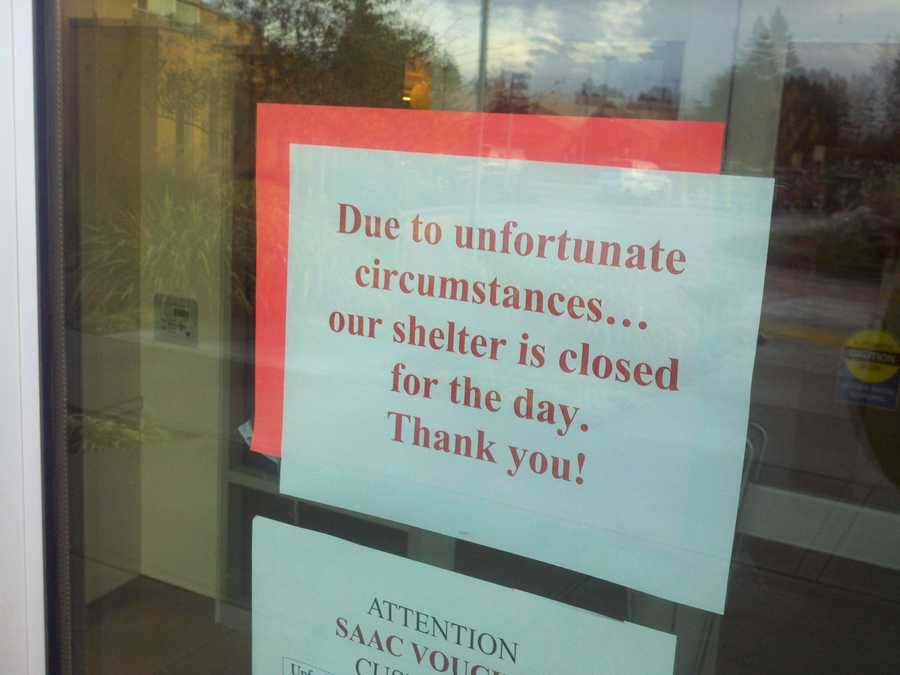 "After the shooting, this animal control facility closed its doors. This sign on the door posts this message: ""Due to unfortunate circumstances ... our shelter is closed for today."""