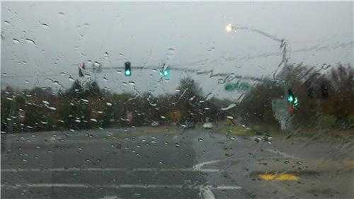 ThursdaySkies turn darker gray to the east of downtown Chico as rain gets heavier.