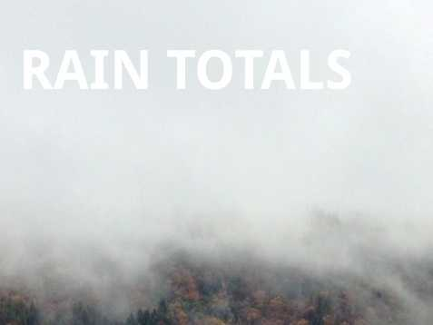 The first wave of a series of weather systems brought plenty of rain and wind. See how much fell on Wednesday.