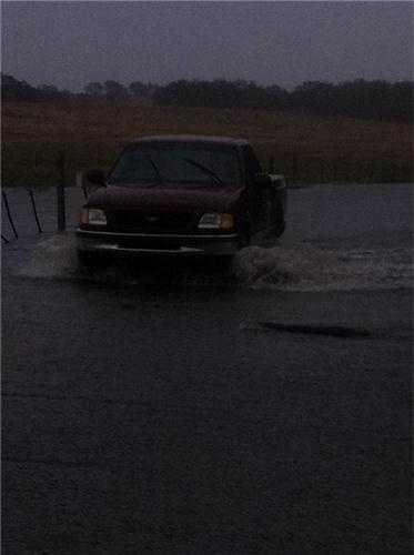 FridayDeer Creek is flooding Scott Road (Nov. 30, 2012).