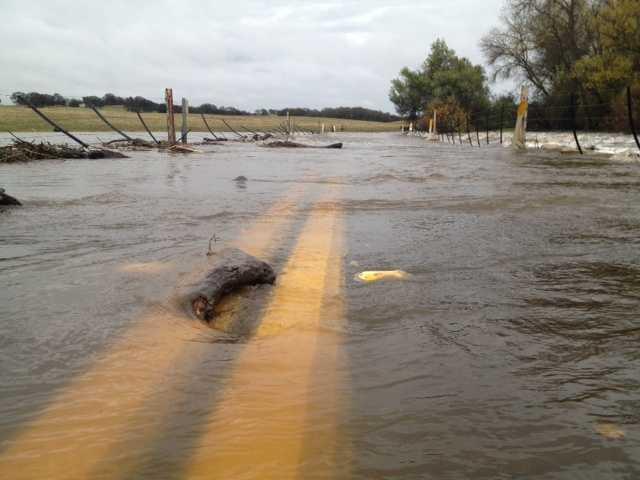 FridayScott Road is flooded.