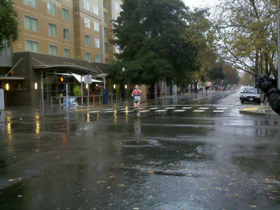 SundayA shot of the rainy and windy CIM on Sunday morning (Dec. 2, 2012).
