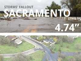 In all, Sacramento saw 4.74 inches of rain.