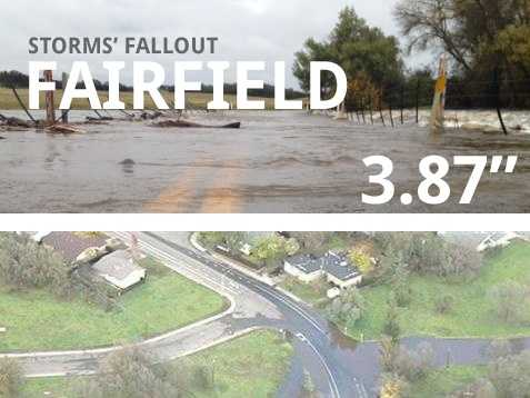 In all, Fairfield saw 3.87 inches of rain.