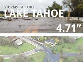 In all, Lake Tahoe saw 4.71 inches of rain.