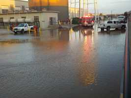 Officials capped a water main break in North Highlands on Monday morning, where more than 500,000 gallons of water gushed onto a roadway (Dec. 3, 2012).