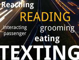 Reading is a form of distracted driving. Whether you're glancing at the morning paper or peeking at some mail, reading while driving is considered dangerous. And according to the OTS, most of us are doing it.