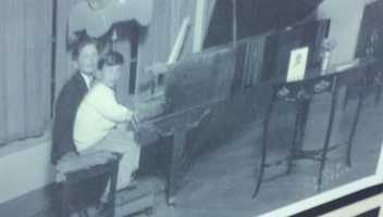 Brubeck was born in Concord on Dec. 6, 1920. He's pictured here as a youngster on the piano. Brubeck actually had planned to become a rancher like his father.