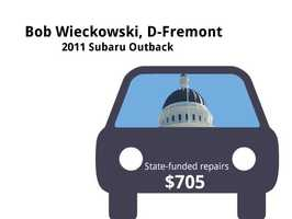Bob Wieckowski, D-Fremont2011 Subaru OutbackState's purchase price: $31,950State's sale price: $21,000$705 for a windshield&#x3B; oil and filters replaced