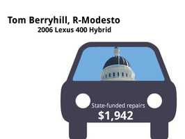 Tom Berryhill, R-Modesto2006 Lexus 400 HybridState's purchase price: $57,334State's sale price: $14,521$1,942 for four new tires, a clean fuel-injection system
