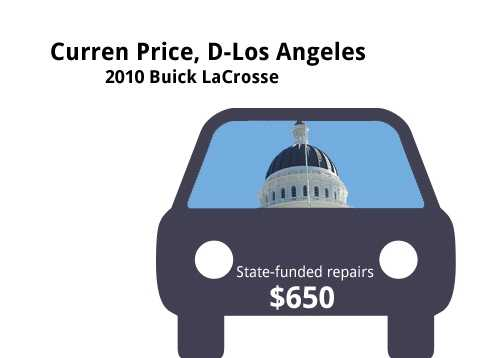 Curren Price, D-Los Angeles2010 Buick LaCrosseState's purchase price: $35,833State's sale price: $21,550$650 for two new tires