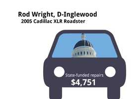 Rod Wright, D-Inglewood2005 Cadillac XLR RoadsterState's purchase price: $34,541State's sale price: $23,000$4,751 for four new tires, a 36-month road hazard protection plan, repair brakes, electronic suspension