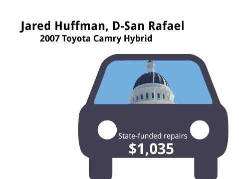 Jared Huffman, D-San Rafael2007 Toyota Camry HybridState's purchase price: $33,436State's sale price: $7,500$1,035 for four new tires