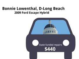 Bonnie Lowenthal, D-Long Beach2009 Ford Escape HybridState's purchase price: $34,982State's sale price: $13,525$440 to replace a battery filter, wiper blades, and for 30,000-mile maintenance