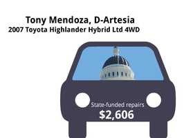 Tony Mendoza, D-Artesia2007 Toyota Highlander Hybrid Ltd 4WDState's purchase price: $44,000State's sale price: $15,025$2,606 for four new tires, filters, an oil pan, tail light, multi-point inspection