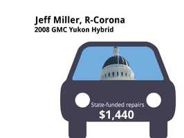 Jeff Miller, R-Corona2008 GMC Yukon HybridState's purchase price: $47,802State's sale price: $20,000$1,440 for four new tires, to replace wiper inserts and for transmission fluid