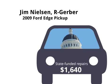 Jim Nielsen, R-Gerber2009 Ford Edge PickupState's purchase price: $39,950State's sale price: $11,525$1,640 for five new tires, flush fuel injectors, 90,000 mile service