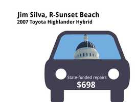 Jim Silva, R-Sunset Beach2007 Toyota Highlander HybridState's purchase price: $39,645State's sale price: $14,025$698 for four new tires
