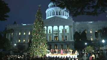 The state Capitol Christmas tree was official lit up Wednesday night. It has about 10,000 lights and is decorated with hundreds of ornaments created by kids and adults with disabilities. See photos form the event:
