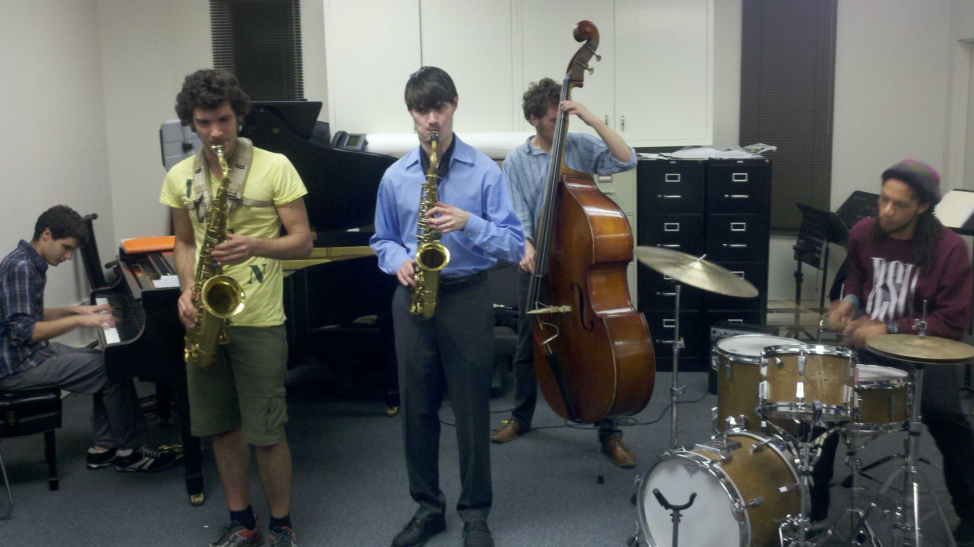 Five students at the University of the Pacific are in a fellowship program to study jazz music (Dec. 5, 2012).