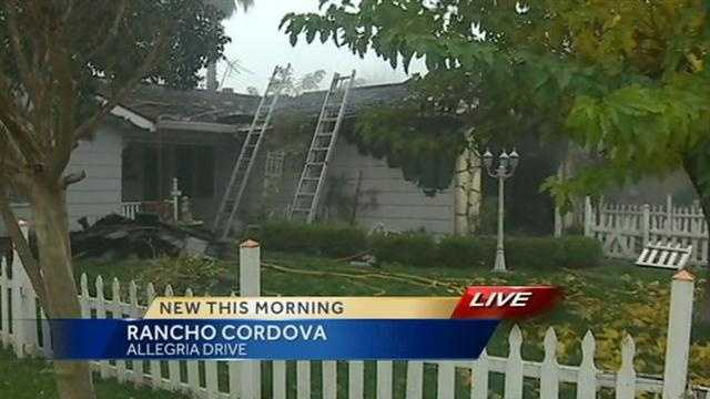 A garage fire broke out Friday morning at a home in Rancho Cordova, on La Allegria Drive (Dec. 7. 2012).