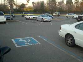An 11-month-old was inside a vehicle struck by gunfire during a shooting in a Sacramento store parking lot on Monday, sheriff's deputies said.