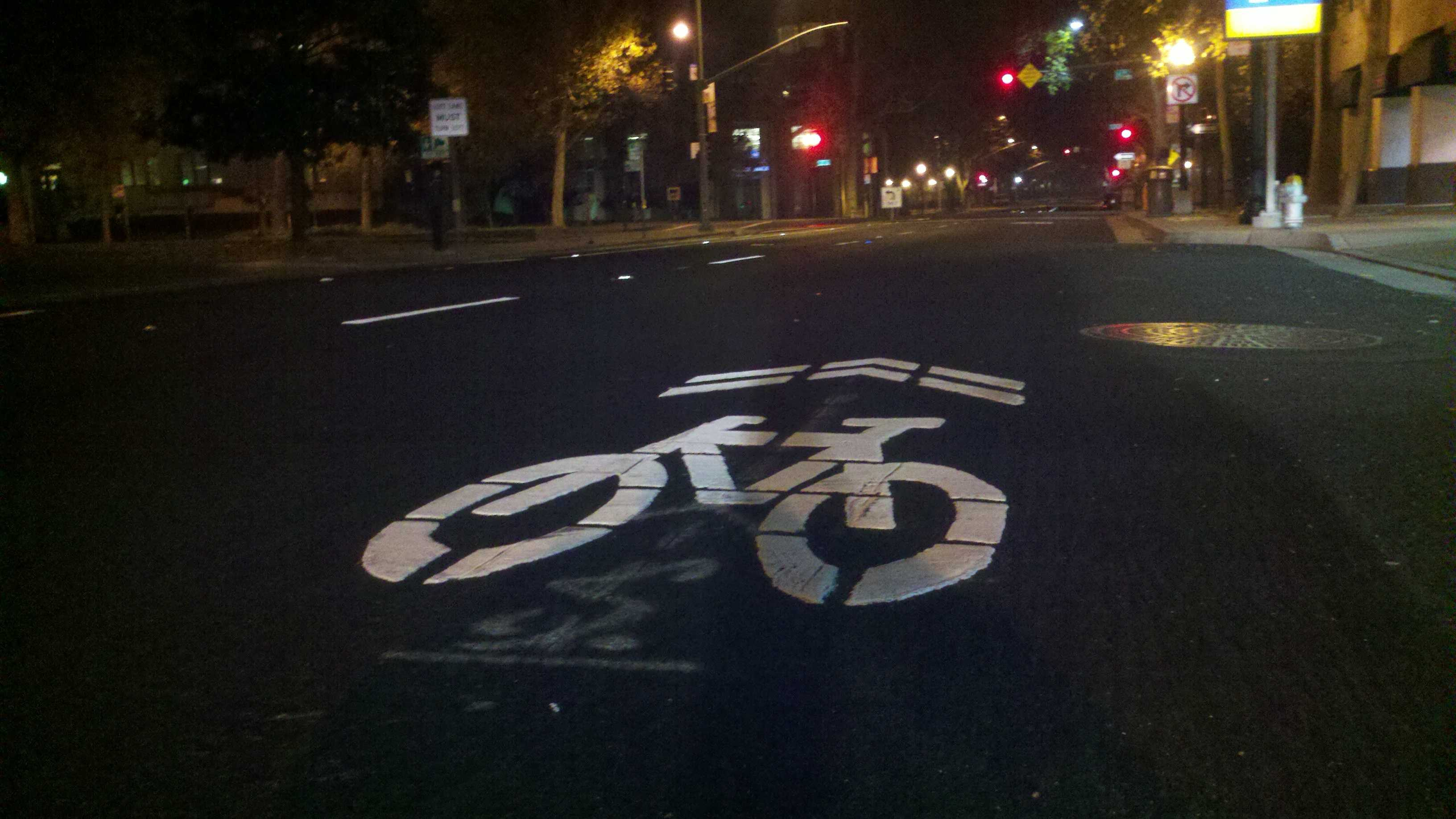 The city of Sacramento added a host of new bicycle lanes this fall.