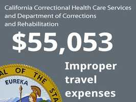 Department: California Correctional Health Care Services and Department of Corrections and RehabilitationIssue: Improper travel expensesCost to state: $55,053