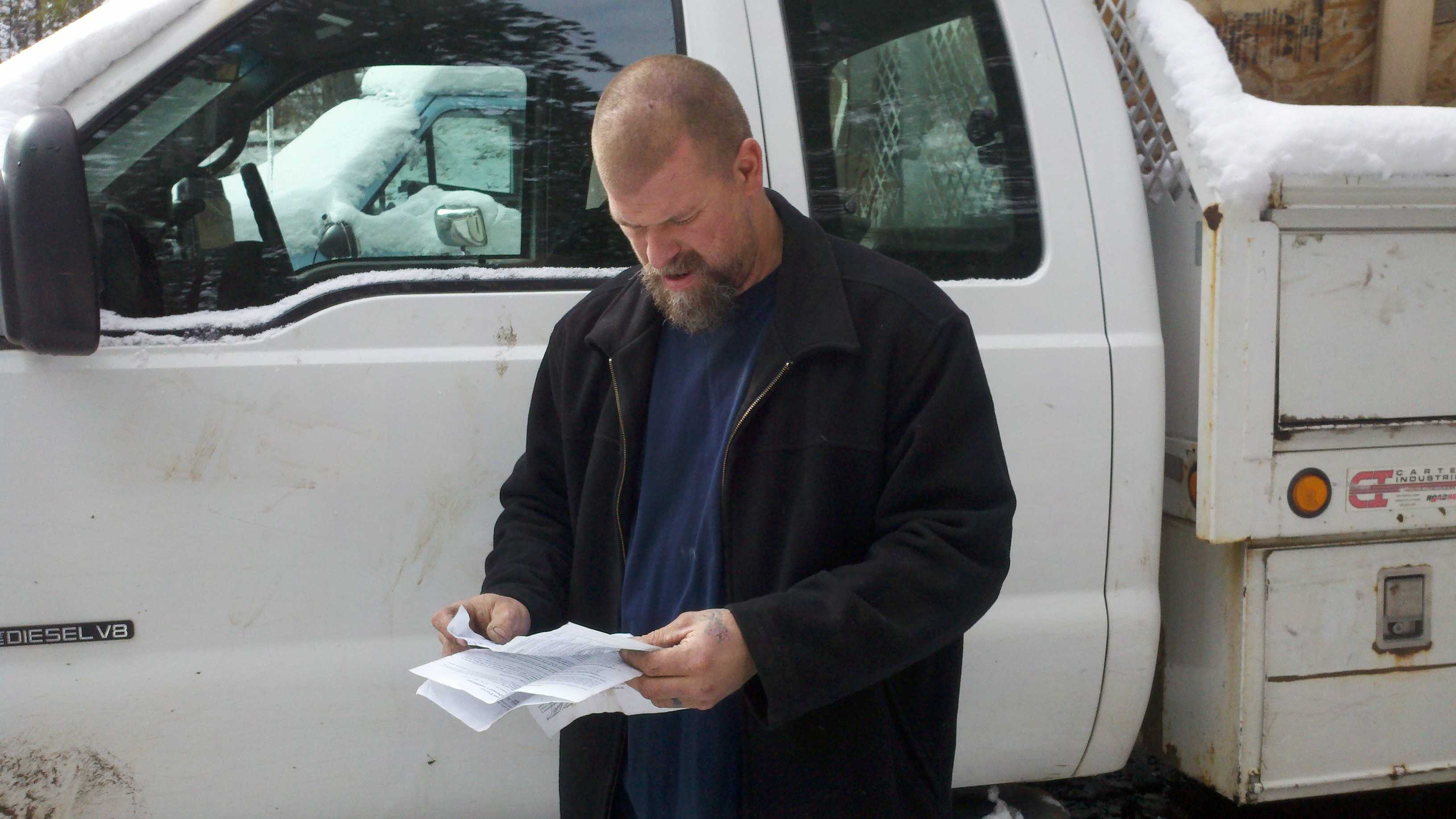 Scott Truschke said he is the focus of a federal timber theft investigation (Dec. 14, 2012).