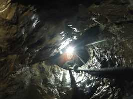 The adventure crawl takes spelunkers on a tour through the tunnels below Moaning Cavern.