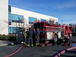 The Sacramento Fire Department responded to an attic fire early Wednesday morning at Western Health Advantage on Oaks Drive.