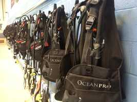 Dolphin SCUBA has a complete line of rental gear.