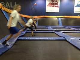 Sprints on trampoline adds a whole new challenge to running drills.