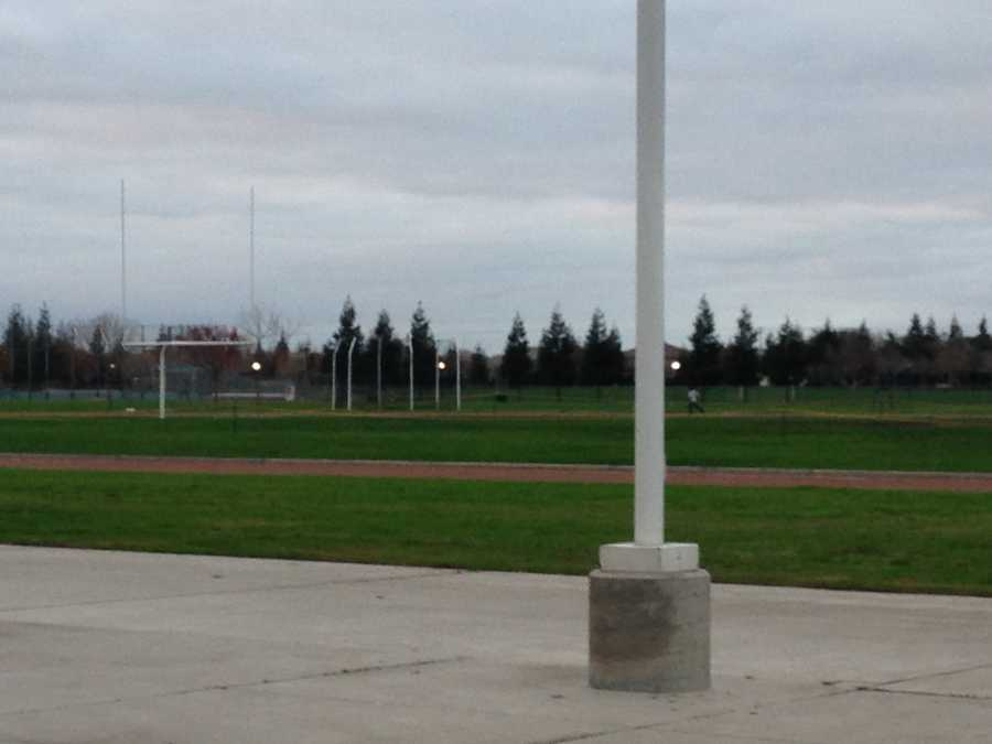 Colin used to practice on this field at Pitman High School in Turlock.