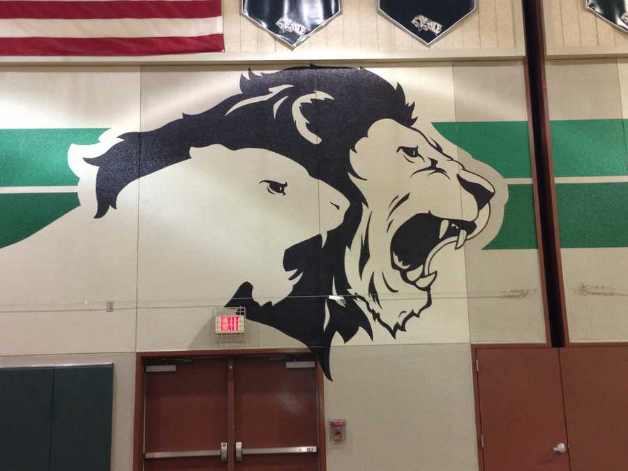 Pitman High School pride: Colin Kaepernick played basketball in this gym.