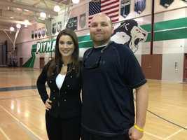 KCRA 3's Lisa Gonzales with Colin Kaepernick's former high school football offensive coordinator, Brandon Harris.