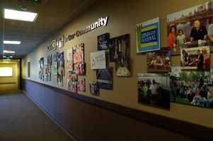 As you enter the newsroom, a montage is on displayfeaturing photos of KCRA 3 outings and community service.