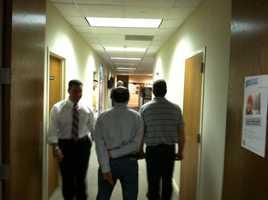 Anchor Gulstan Dart walks down a hallway at KCRA.