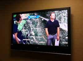 KCRA 3 engineers at work making sure there aren't any technical issues with broadcasting the latest weather coverage.