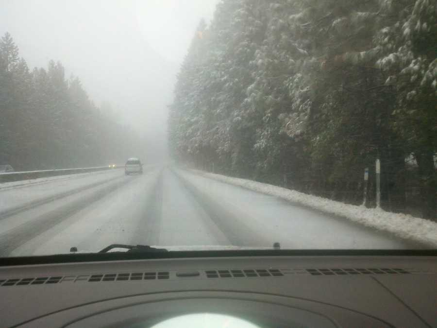 More snowfall is expected for the Sierra on Wednesday.