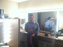 KCRA 3 anchor Gulstan Dart prepares for a newscast.