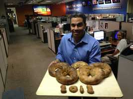 "Even the bread served in the KCRA newsroom during the Summer Games was ""Olympic-sized."""