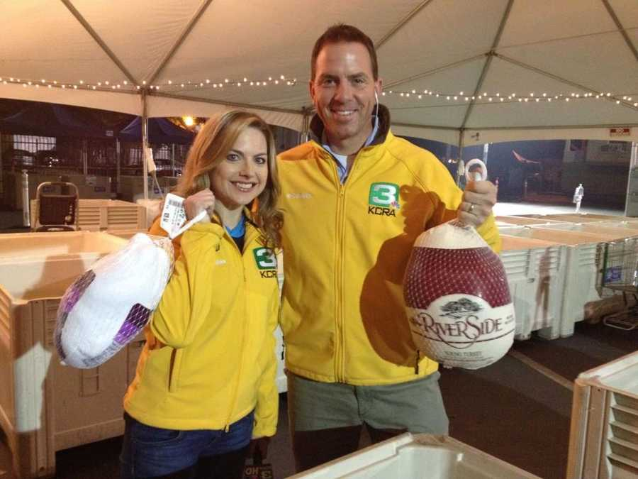 Deirdre and Brian at the 2012 KCRA Turkey Drive.