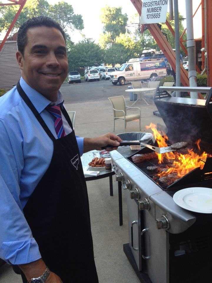 Chef Gulstan on the KCRA patio.